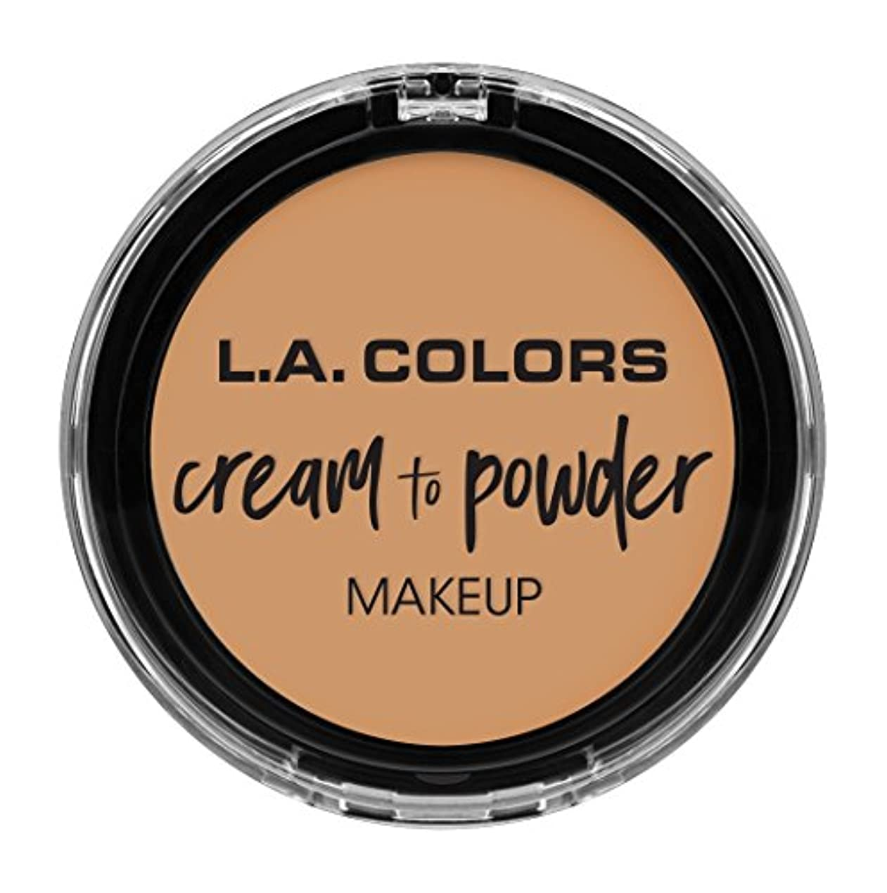 舗装小説家認可L.A. COLORS Cream To Powder Foundation - Nude (並行輸入品)