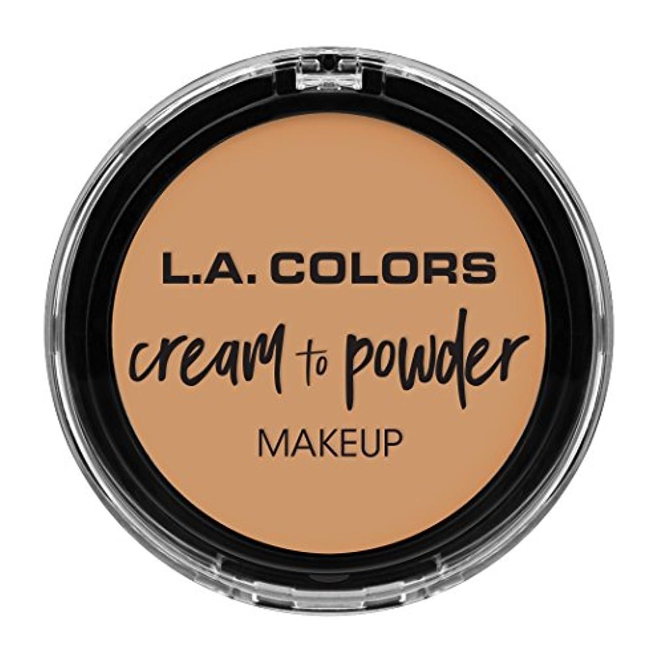 純粋に治安判事広々としたL.A. COLORS Cream To Powder Foundation - Nude (並行輸入品)