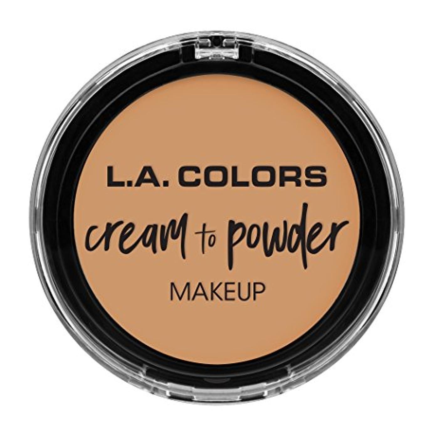 立場ペアパンサーL.A. COLORS Cream To Powder Foundation - Nude (並行輸入品)