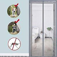マグネットスクリーンドア、ヘビーデューティメッシュカーテンフルフレーム防蚊ネット蚊帳net-F 80x220cm(31x87inch)で新鮮な空気をさせて