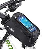 Youchan(ヨウチャン) 自転車 フレーム スマホ バッグ フロントバッグ フレーム バッグ 防水 サイクリング 5.5インチ iPhone6 6s Plus SE 対応 タッチスクリーン (ブラック)