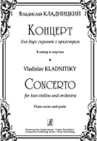 Concerto for two violins and orchestra. Piano score and parts