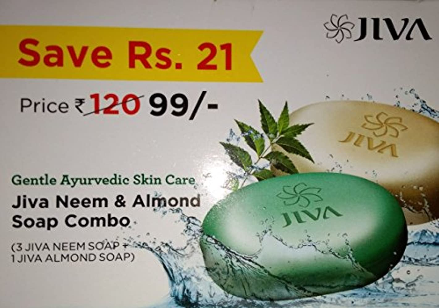 トレードエミュレーション花輪Jiva Ayurveda Neem & Almond Soap Combo