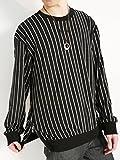 (モノマート) MONO-MART 裾 ZIP ストライプ カットソー ドルマン ストレッチ ゆる Tシャツ 長袖 デザイン メンズ