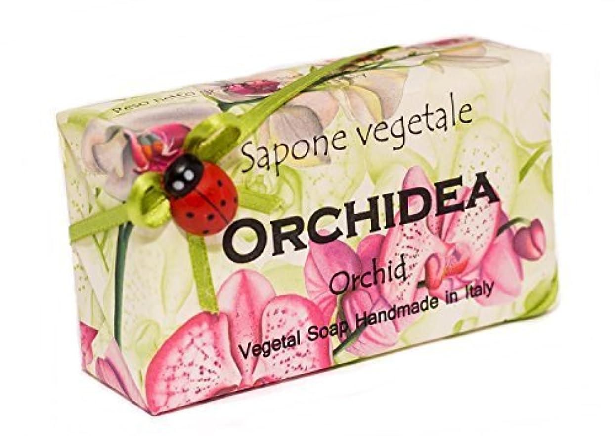 Alchimia オルキデア(蘭)、イタリアからの野菜の手作りソープバー [並行輸入品]