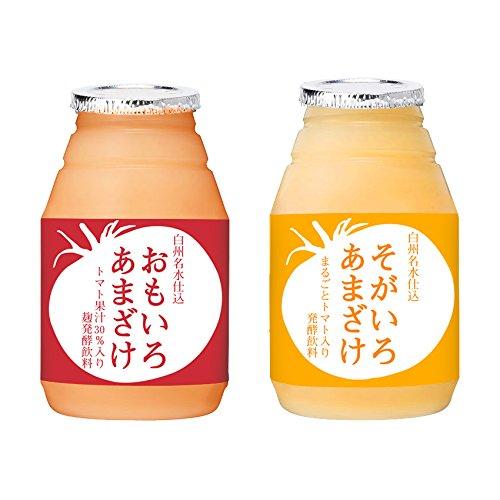 甘酒×トマトジュース「おもいろあまざけ」と「そがいろあまざけ」のセット 150ml×各12本(計24本)入り 国産 無添加