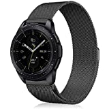 Fintie for Gear Sport/Galaxy Watch 42mm Band, 20mm Quick Release Stainless Steel Metal Replacement Strap Wrist Bands for Samsung Galaxy Watch 42mm, Gear Sport / S2 Classic Smartwatch, Black