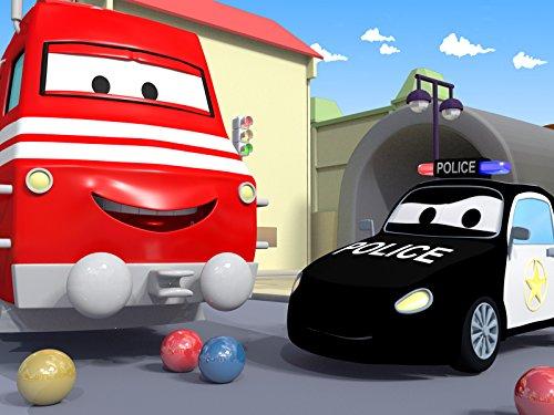 カーシティーにいる、列車のトロイと レースコンテスト & タイクのタイラーがベビーフランシスのキャンディーを盗む|子供向け自動車&トラックアニメ