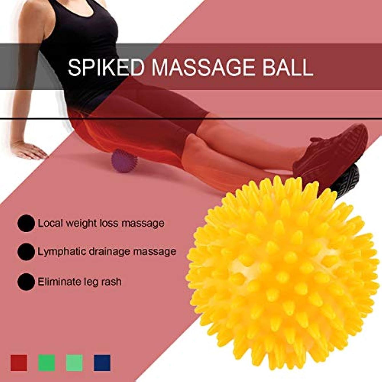 バケット省略する状況PVC高密度とがったマッサージボール足の痛み&足底筋膜炎緩和剤治療ハリネズミボールマッサージ指圧ボール