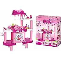 デラックス料理プラスチック再生キッチン – ピンク