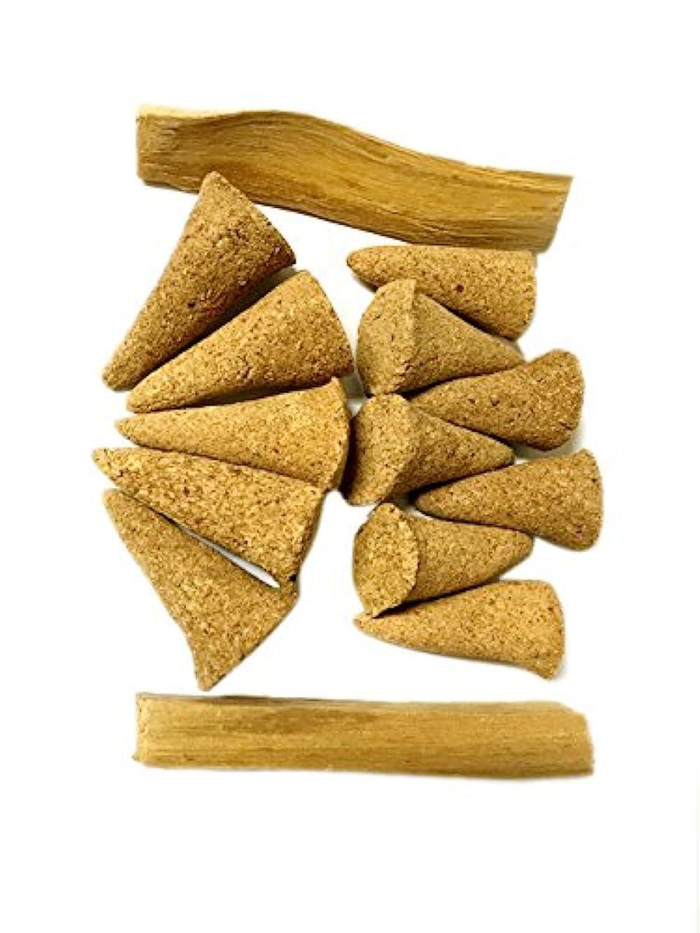 矢じり暗い航空便AliveハーブPalo Santo Incense Cones、12 Cones plus 2 Palo Santo Sticks