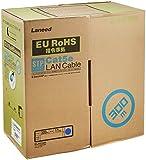 ELECOM LANケーブル CAT5e STP(シールド加工) RoHS指令準拠 300m (リール巻) ブルー LD-CTS300/RS