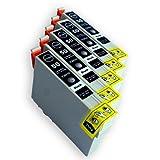EPSON(エプソン) 互換インクカートリッジ IC50 ブラック5本セット 残量表示機能付 Angelshopオリジナル