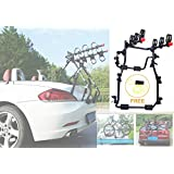 3 Bike Rack for Car SUV Universal Carrier- Bicycle Trunk Mount Rear Racks -Sedan, Hatchback, Small SUV, Bicycle Frame Lock Fr