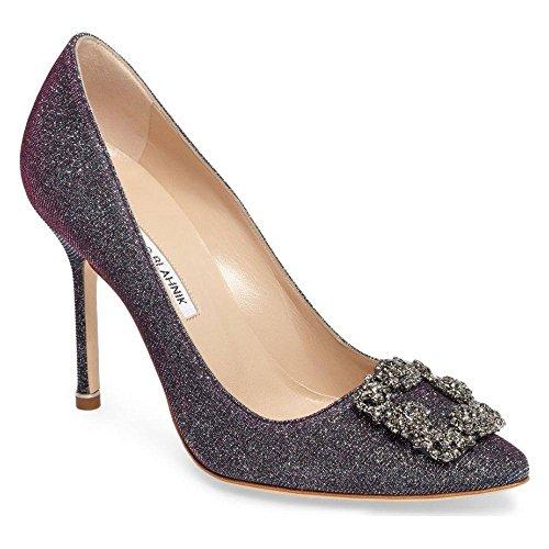 (マノロブラニク) MANOLO BLAHNIK レディース シューズ・靴 パンプス 'Hangisi' Jeweled Pump [並行輸入品]