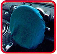 サンクスギビング ステアカバークロス 綿100 60cm径 水色
