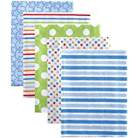 Luvable Friends Flannel Receiving Blankets, Blue, by Luvable Friends