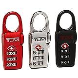 [トゥミ] TSAロック メンズ TUMI 14182 BX ブラック シルバー レッド [並行輸入品]