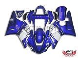 VITCIK 外装パーツセット プラスチックABS射出成型 完全なオートバイ車体 フェアリングキット アフターマーケット車体フレーム 対応車種 ヤマハ Yamaha YZF1000R1 00-01 00 01 YZF1000 R1 2000-2001 2000 2001(ブルー & ホワイト) A031