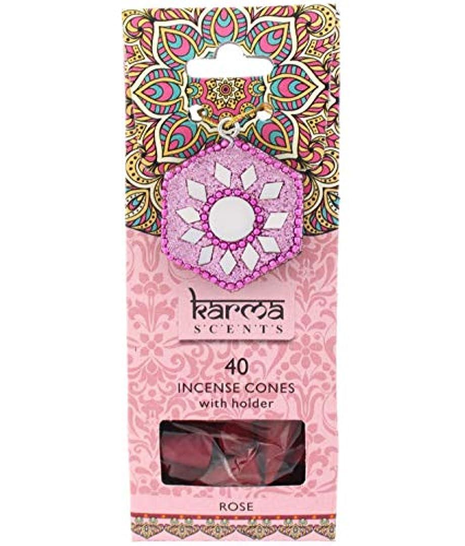 素人モーテルスピリチュアルKarma Rose Incense Cones Gift Set