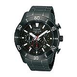 [セイコー パルサー]SEIKO PULSAR 100m防水 クロノグラフ 腕時計ブラック メンズ PT3367 [並行輸入品]