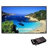 Excelvan PVC HD プロジェクター スクリーン 16:9 折りたため可能 ポータブル 150インチ