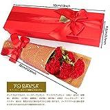 Yobansa 枯れない花ソープフラワー ギフトボックス 誕生日 母の日 記念日 先生の日 バレンタインデー 昇進 転居など最適としてのプレゼント (赤いカーネーション)