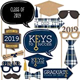 Grad Keys to Success - Graduation Photo Booth Props Kit - 20 Count