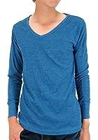 (マルカワジーンズパワージーンズバリュー) Marukawa JEANS POWER JEANS VALUE Tシャツ メンズ ブランド 長袖 ロンT 秋 Vネック 無地 サーマル ワッフル 10color