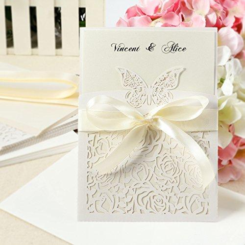 [해외]결혼식 웨딩 용 초대장 자리 꼬리표 인사말 카드 메시지 카드 편지 | 편지지 리본 및 봉투 포함 10 명 4 디자인 선택/Wedding · Wedding invitation cards greeting card Message card Letter | letter paper with ribbon and envelope 10 people 4...