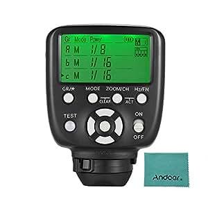 YONGNUO YN560-TX II (Canon用)マニュアル フラッシュトリガー LCDトランスミッター Andoerクリニングクロス付き Canon DSLRカメラ用 YN560III YN560IV YN660 YN968N YN860 スピードライト RF-602 / RF603 / RF603 II / RF605レシーバー用
