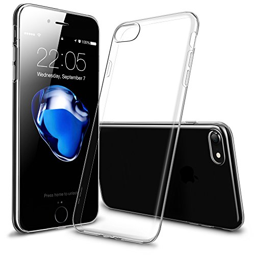 iPhone7ケース アイフォン7ケース,ESRRシリコン ソフト TPU クリアケース 耐衝撃 軽量 0.8mm 保護カバー マホケース スマートフォンケース (ジェルブブラック)