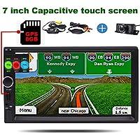 HDデジタルナビゲーションダブルディンカーステレオナビゲーターワイヤレスバックミラーカメラヘッドユニットカーラジオのFM Bluetoothのビデオプレーヤーと7インチGPSカープレーヤー