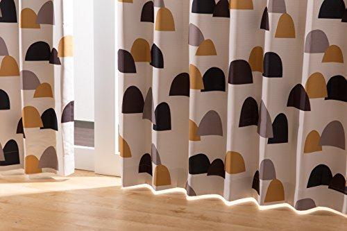 ナイスデイ IN-FA-LA 北欧デザイン 遮光カーテン 枚組(遮熱 保温 形状記憶) 100×178cm ブラウン 4874406