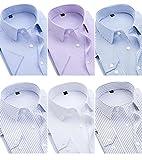 クラブ 長袖ワイシャツ6枚セット 豊富な8サイズ ネルシャツ メンズ チェックシャツ 長袖 シャツ フランネル チェック柄 メンズ ゴージャス 純色 長袖 ボタンアップ シャツ ワイシャツ ボタンダウン 長袖 シャツ メンズ