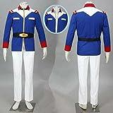 Diyameina 機動戦士ガンダム 地球連邦軍軍服 0079 アムロ レイ 風 コスプレ衣装 (男性 L)