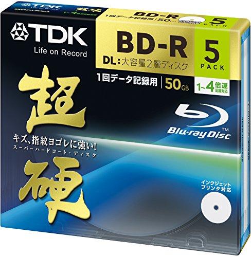 TDK データ用ブルーレイディスク 超硬シリーズ BD-R DL 50GB 1-4速 ホワイトワイドプリンタブル 5枚