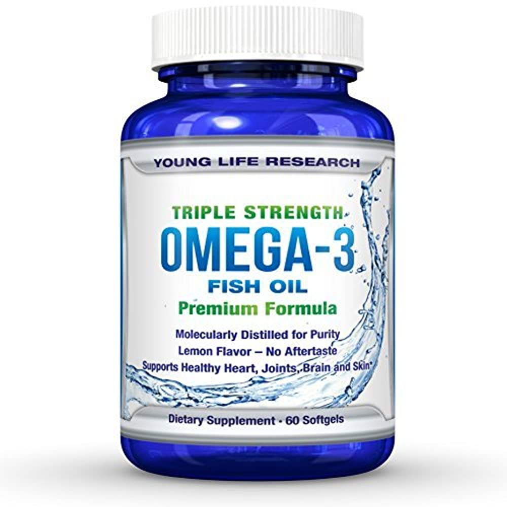 大佐ウィザード呼び起こすFISH OIL OMEGA 3 - Triple Strength Ultra-Purified Professional Grade - By Young Life Research by Young Life Research...