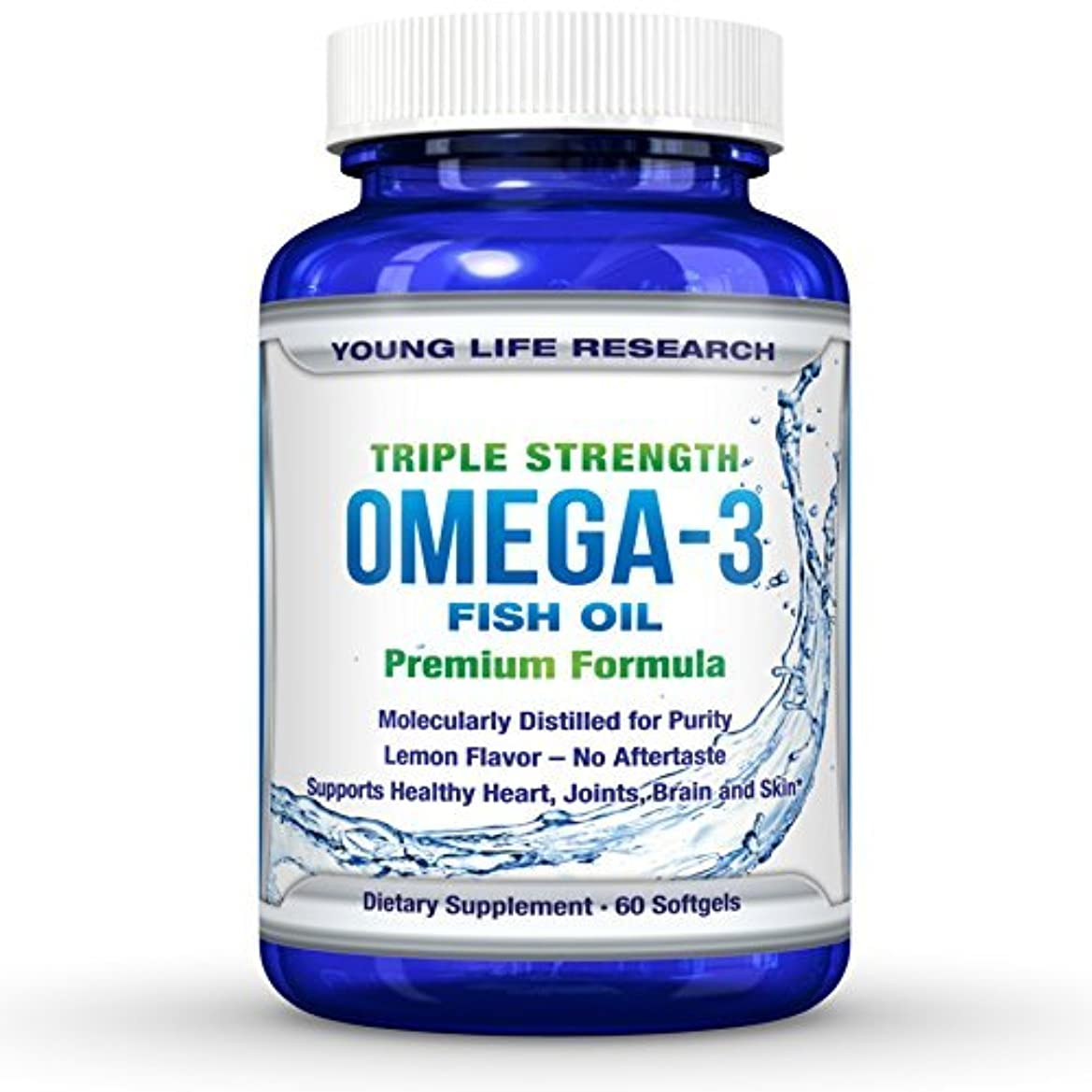 ヒール適応的放置FISH OIL OMEGA 3 - Triple Strength Ultra-Purified Professional Grade - By Young Life Research by Young Life Research...