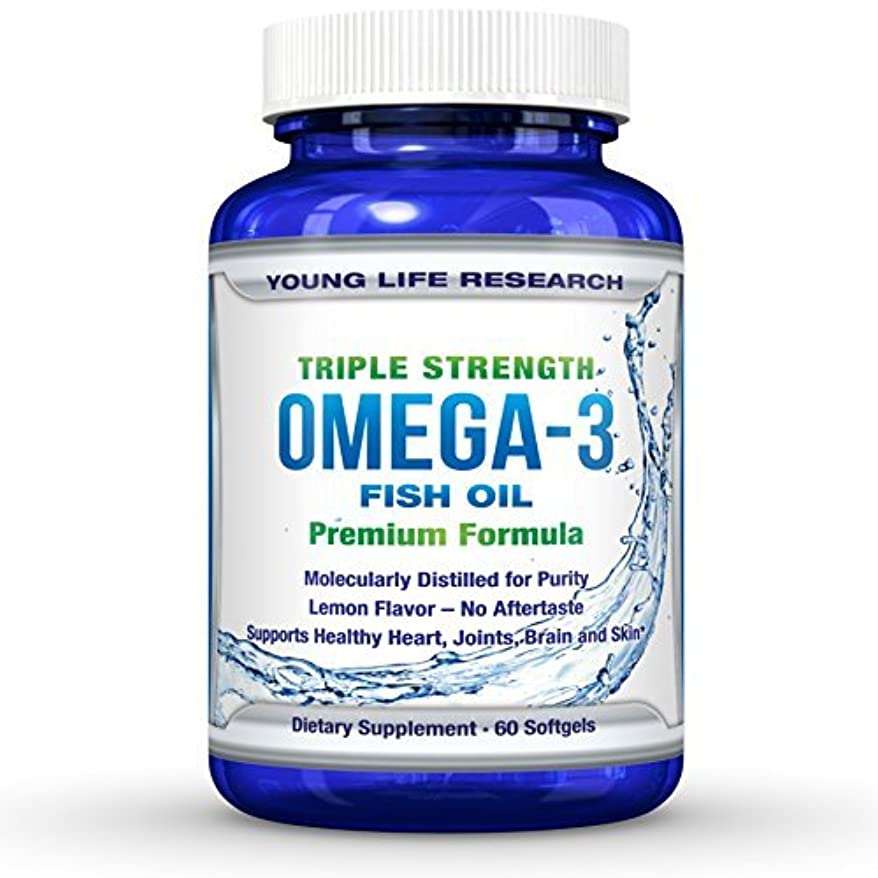蓋謎めいた後方FISH OIL OMEGA 3 - Triple Strength Ultra-Purified Professional Grade - By Young Life Research by Young Life Research...