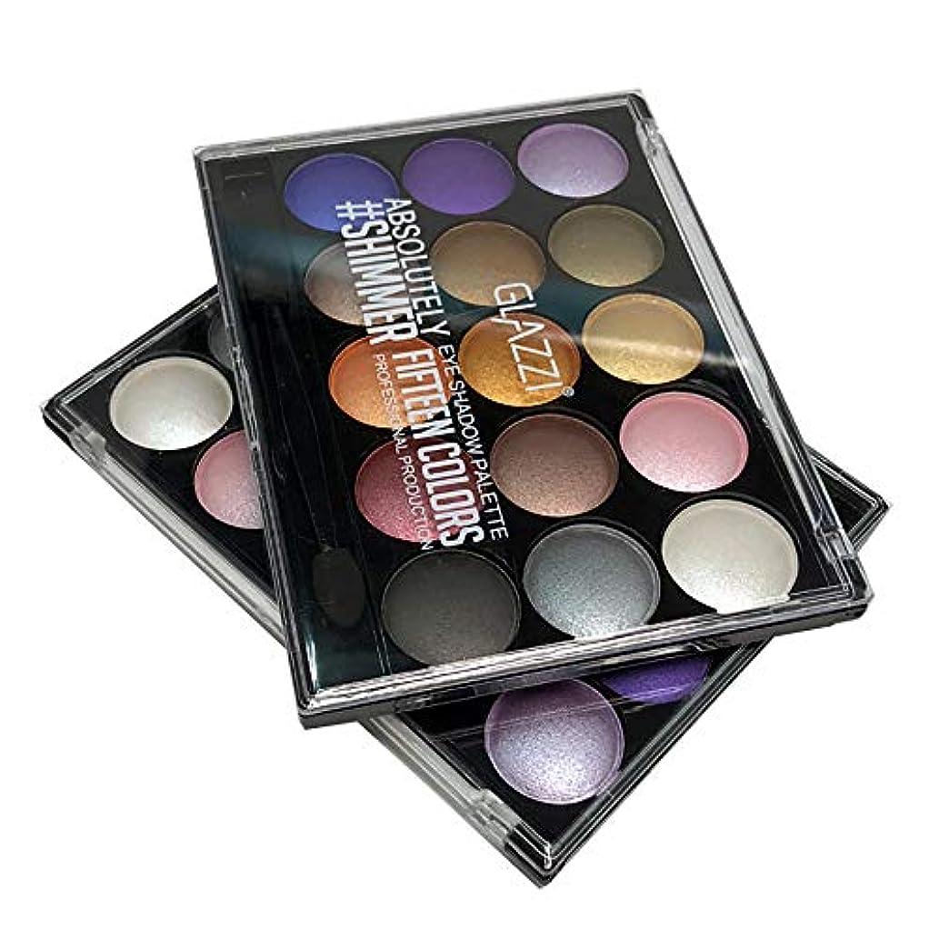 エッセンス不道徳切るAkane アイシャドウパレット GLAZZI 微光 綺麗 マット つや消し 人気 長持ち ファッション 日本人肌に合う 持ち便利 Eye Shadow (15色) GZ8040030
