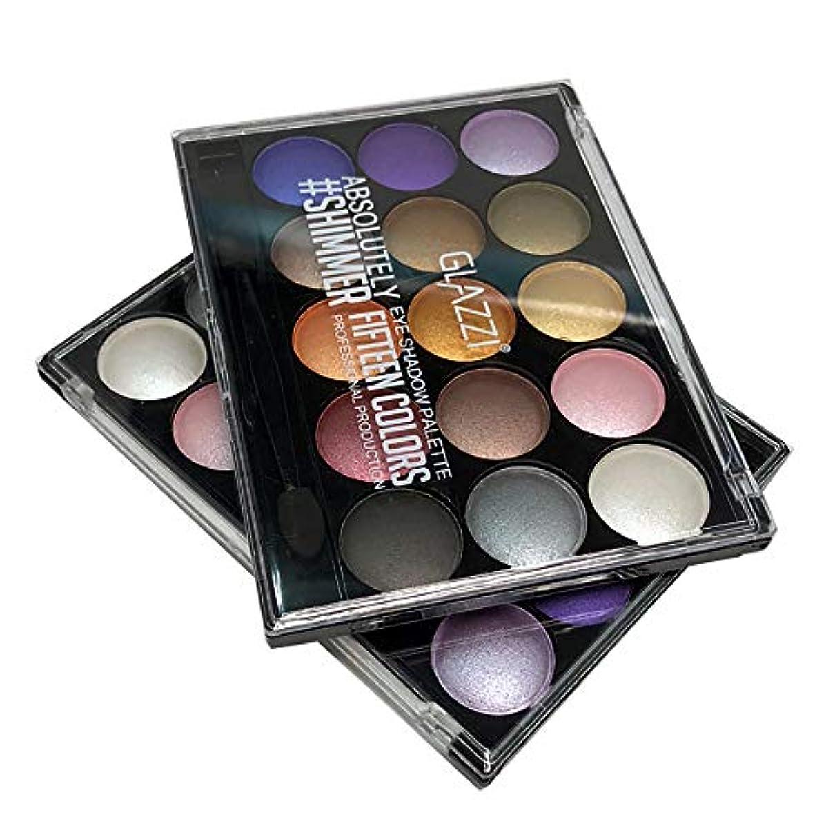 流行しているラジエーター存在Akane アイシャドウパレット GLAZZI 微光 綺麗 マット つや消し 人気 長持ち ファッション 日本人肌に合う 持ち便利 Eye Shadow (15色) GZ8040030