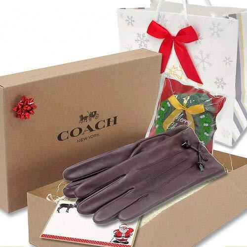 クリスマス ギフトセット コーチ 手袋 COACHコーチ アウトレット ティー ローズ ボウ レザー グローブ / 手袋 F20887 OXB [並行輸入品] 7.5