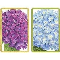 Caspari Hydrangea Garden Playing Cards – 2 Decks Included ( pc135 )