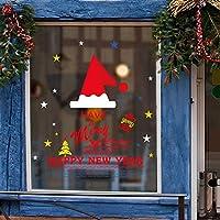 GOSIUP クリスマスデコレーションレッドクリスマスハットウォールステッカー家庭用寝室用装飾ペーパー