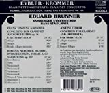 クロンマー:クラリネット協奏曲変ホ長調op.36/フンメル:序奏と主題と変奏曲op.102/アイブラー(1765-1845):クラリネット協奏曲変ロ長調 画像