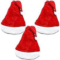 クリスマス バラエティー 衣装 サンタ 帽子 大人用 3個 セット