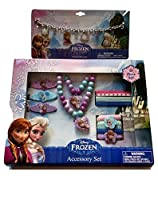 Girls Playset Bundle Dress Up Activity Frozen Charm Bracelet Necklace Princess