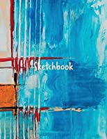 Sketchbook: notebook for drawing, writing, painting, sketching, or doodling, 120 pages, 8.5 x 11 inches (abstract cover)