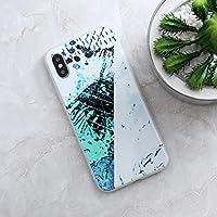 Turxie - iphone 6 6S 7 iphone 7ケースでは8プラスXのX最大5秒5 SEケース花崗岩スクラブマーブルストーン塗装済み完成品シリコーン電話ケース [4 iphoneのX用]